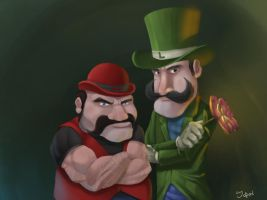 mario brothers by juanFoo
