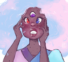 Cotton Candy Garnet by ladypumpkinseed