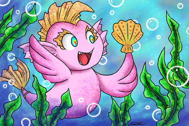 Squishy's Happy Shell +Speed Art in Description by Anasatcia