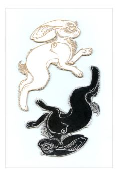 Yin-Yang Rabbits by windinmysails