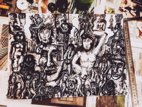 lots and lots of faces  nude people 2016 by CharaSweetCheeks