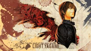 wallpaper Light Yagami by Helsic
