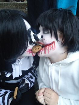 Laughing Jack x Jeff the Killer by NyuLucy2211