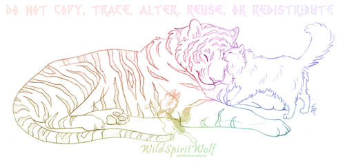 Tiger And Cat Sketch by WildSpiritWolf