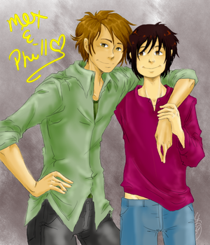 Mex and Phil by Lizmun