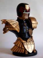 Judge Dredd 3rd Scale Bust finished (b) by MWhiteSculpting