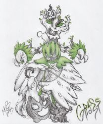 Decidueye and the grass ghost bros by MAR0WAK
