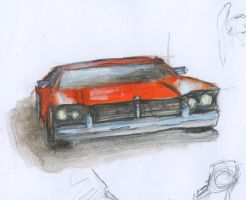 Red hot oil sketch. am car by DStraX