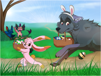 Getting Ready for Easter by Naoki-Wolf