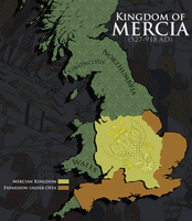 Mercia Civilization V Map Art by AlexfromEarth