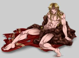 Golden Haired Viking by m-t-copyright