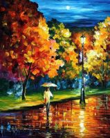Moony Night by Leonid Afremov by Leonidafremov