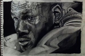 Micheal Jordan, Graphite on paper by MarlonChavarria