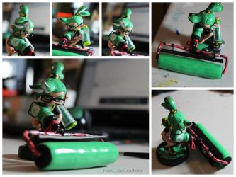 Custom Inkling Amiibo #10 | Green Inkling Boy by PixelCollie
