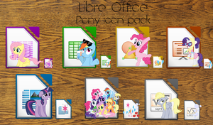 LibreOffice Pony icon pack (Derpy icon added) by Nyan-PTX