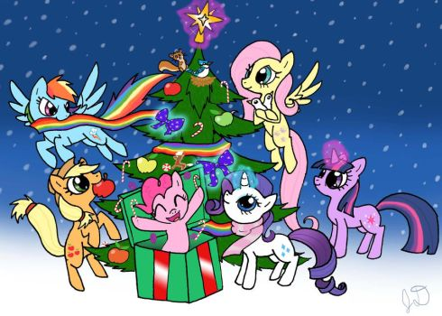 Mare-y Christmas by Electric-Mongoose