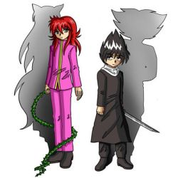 kurama and hiei by matsuri2009