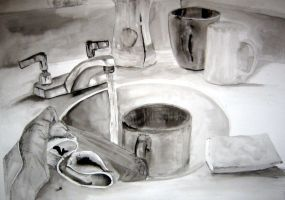 ink wash sink by drewisgenki