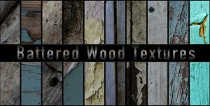Battered Wood Textures by Pickled-Jester-Inc