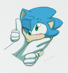 Classic Sonic by Alomaire