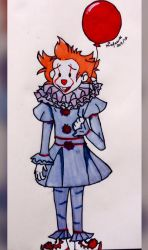 Pennywise and the red balloon by Rukiaoceanspirit1
