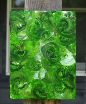 Green Abstract by Berakou