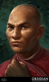 Pillars of Eternity - Human Monk Portrait by GuthrieArtwork