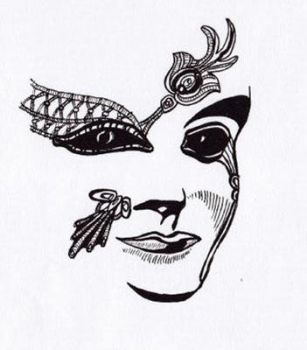 10 minute doodle - mask by Talikmon
