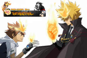 Katekyo Hitman Reborn! Vongola Primo and Dechimo by LordRender