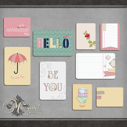 Just Saying Journal Cards by DaydreamersDesigns