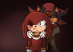 Shadow X Knuckles - New toy by NinaHunter