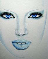 Blue Girl by Kim-Anderson