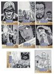 Walking Dead Sketch Cards: 10-17 by AtlantaJones