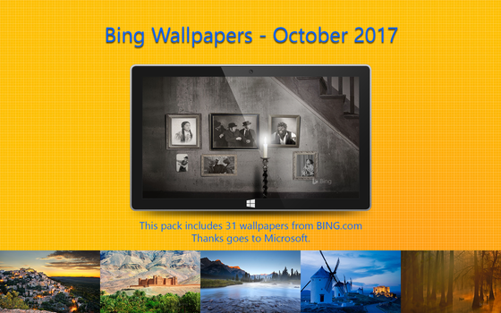 Bing Wallpapers - October 2017 by Misaki2009