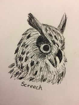 Inktober Day 9: Screech by Panolli