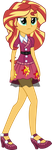 Sunset Shimmer School Spirt Clothes by illumnious