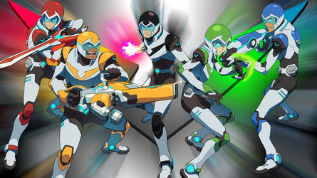 Voltron Paladin Team by falconfliesalone