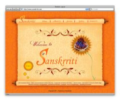 Sanskrriti Web Layout by iyyanar