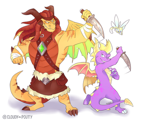 Trondo And Spyro by cloudypouty