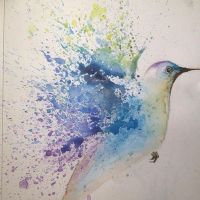 Watercolour Hummingbird by Ineffablez