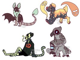 halloween adopts - closed by plantgay