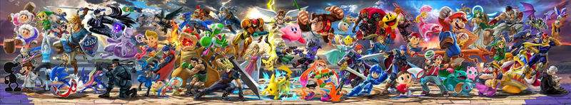 Super smash Bros Ultimate Official Poster by Mela-the-cat