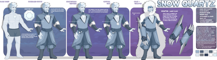 [Design] SU Gemsona : Snow Quartz by Solar-Paragon