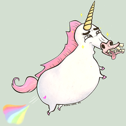 Fantastical Farting Unicorn by yoon-hee