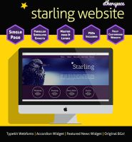Starling Parallax Website by ciseaux