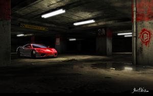 Parking Garage - 3d Game Image by JWraith