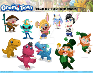 Disney's Gnometown Character Sheet 1 by RehanaKn