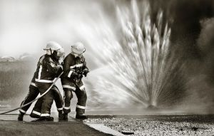 Fireman in action by JesusArting