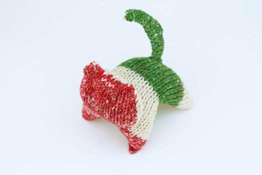 Red White and Green Radical Kitty by Cloudpow