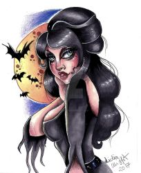 Elvira mistress of dark by MissMisfit13
